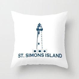 St. Simons Island - Georgia. Throw Pillow