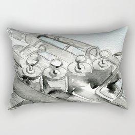 Tuba pistons Rectangular Pillow