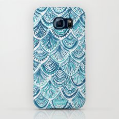 NAVY LIKE A MERMAID Fish Scales Watercolor Slim Case Galaxy S8