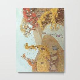 The Night Gardener - Autumn Park Metal Print