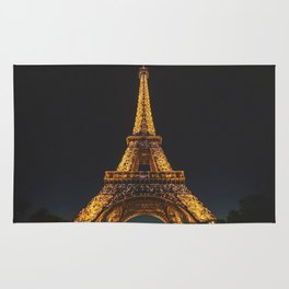 Eiffel Tower Paris City Rug