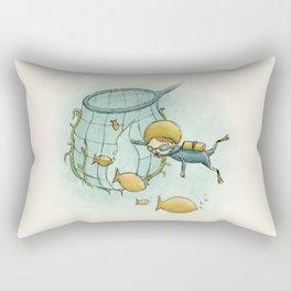 Swimmy Rectangular Pillow