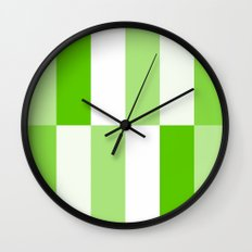 Green and white Block gradient Wall Clock