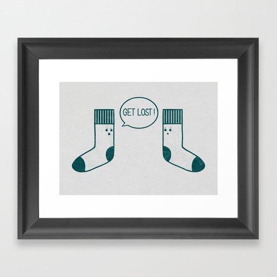 Angry Sock Framed Art Print