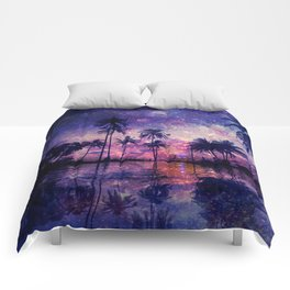 Paradise in Space Comforters