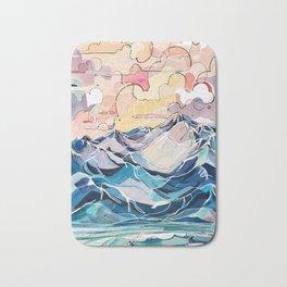 Sunrise, Surf, and Ridgelines Bath Mat