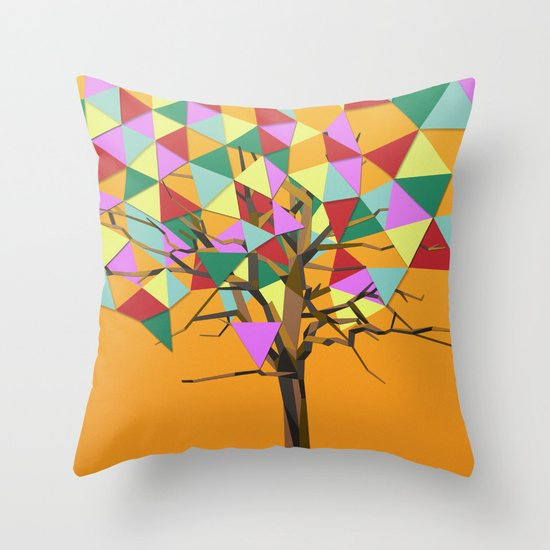 Treeangle Throw Pillow