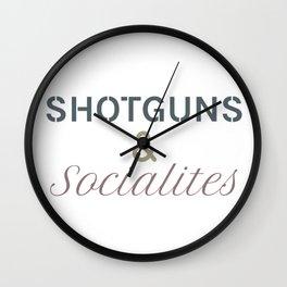 Shotguns & Socialites Wall Clock