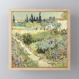 Vincent Van Gogh : Garden at Arles Framed Mini Art Print