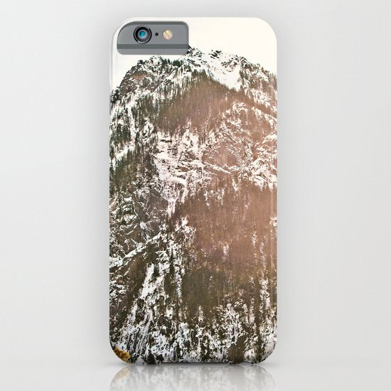Snowy Mountain Peak in the Sun iPhone & iPod Case