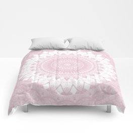 Boho Pink Mandala Comforters