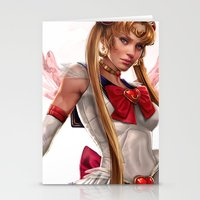 sailor moon Stationery Cards featuring Sailor Moon by KlsteeleArt