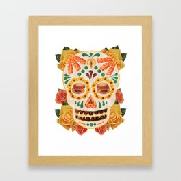 "Mexican Day of the Dead Bacon Sugar Skull ""Calavera de Comida"" Framed Art Print"
