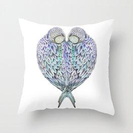 LOVE BIRDS IN COLOUR Throw Pillow