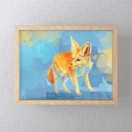 Sound of the Desert - Fennec Fox digital painting Framed Mini Art Print