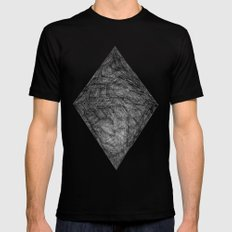 Graphite Diamond Mens Fitted Tee Black LARGE