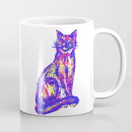 Mischievous tri-colored cat Coffee Mug