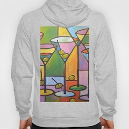 Abstract Art Wine Bar Alcohol Painting ... Martinis and Olives Hoody