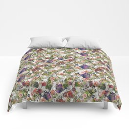 Floral with Watering Can Comforters