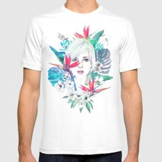 Tropical Mens Fitted Tee White MEDIUM