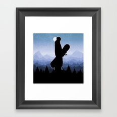 Skyline Stand Framed Art Print