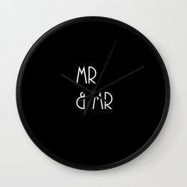 Mr & Mr Monogram vintage sophistication Wall Clock