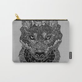 Wolf Print Carry-All Pouch