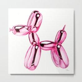 Metallic balloon dog Metal Print