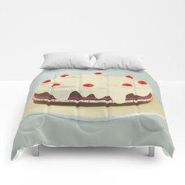 Retro Birthday Cake Comforters