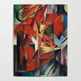 Franz Marc  -  The Foxes Poster