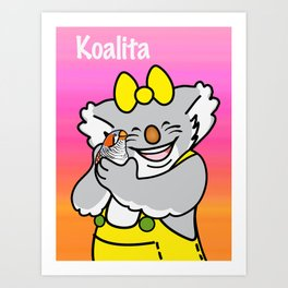 Koalita and the zebra finch Art Print
