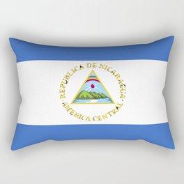 Nicaragua flag emblem Rectangular Pillow