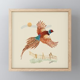 male pheasant Framed Mini Art Print