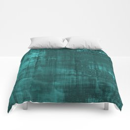 Teal Green Solid Abstract Comforters