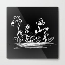 Floral (inverted) Metal Print