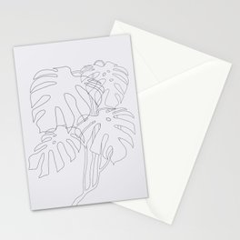 Monstera Illustration Stationery Cards