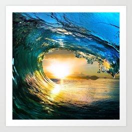 Glowing Wave Art Print