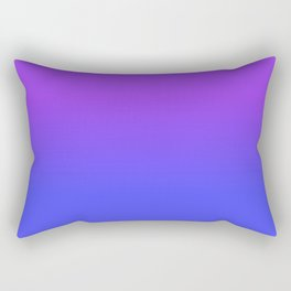 Neon Blue and Bright Neon Purpel Ombré Shade Color Fade Rectangular Pillow