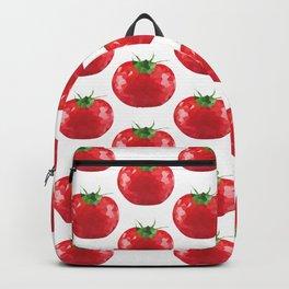 tomato pattern offset grid, fill, repeating, tiled | elegant Backpack