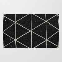 geometry Area & Throw Rugs featuring Geodesic by Terry Fan