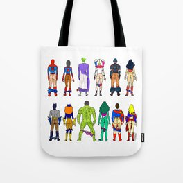 Superhero Butts - Power Couple Tote Bag