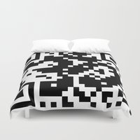 code Duvet Covers featuring Code Om by Tshirtbaba