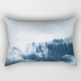 Cloudy and Foggy Forest Rectangular Pillow