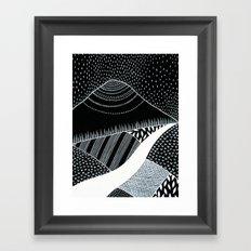 Patterned Landscape 6 Framed Art Print