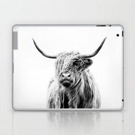 portrait of a highland cow Laptop & iPad Skin