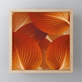 Leaves in Terracotta Color #decor #society6 #buyart Framed Mini Art Print