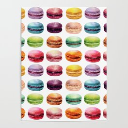 Macaroons Stacked Poster