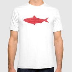 Swedish Fish White Mens Fitted Tee X-LARGE