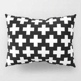 Swiss Cross W&B Pillow Sham