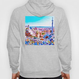 Park Guell Watercolor painting Hoody
